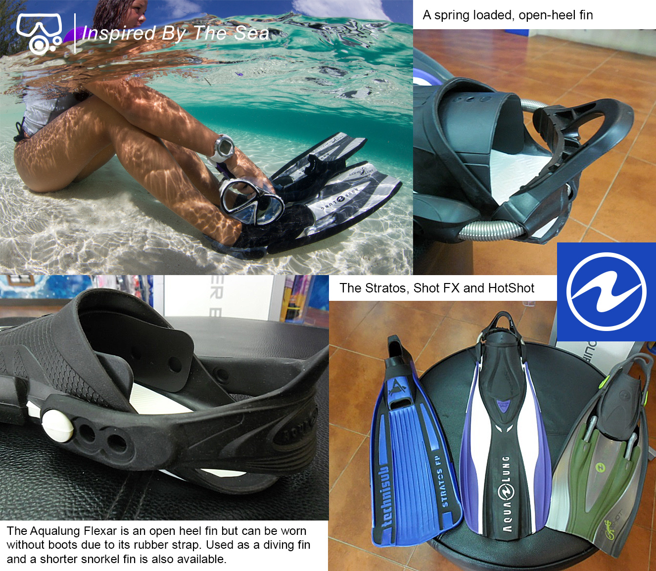 Fins for diving and snorkeling in Krabi Ao nang