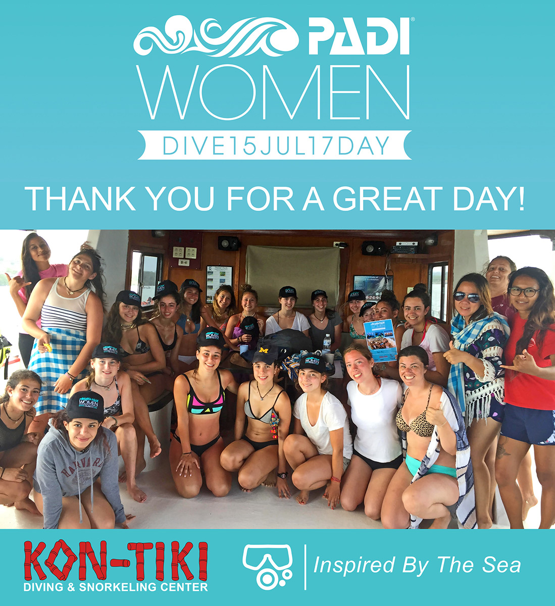 women dive day kon tiki krabi 2017
